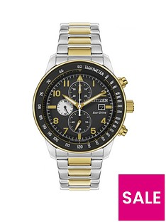 citizen-citizen-black-and-gold-detail-chronograph-dial-two-tone-stainless-steel-bracelet-mens-watch