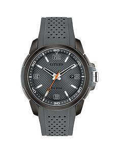 prod1089584272: Citizen Eco-Drive Grey Date Dial Grey Silicone Strap Mens Watch