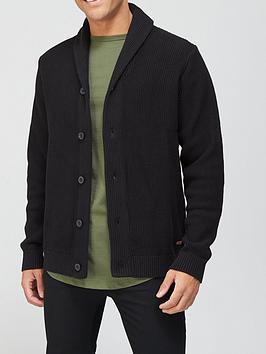 jack-jones-shawl-collar-cardigan-black