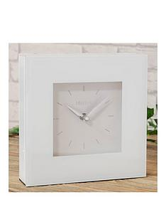 white-glass-square-mantel-clock