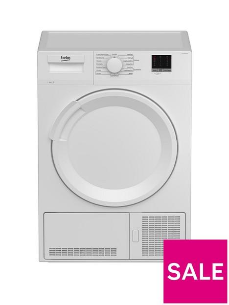 beko-dtlce80051w-8kg-load-full-size-condenser-sensor-tumble-dryer-white