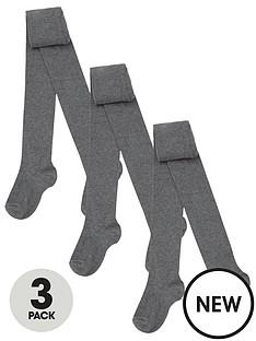 v-by-very-3-packnbspgirls-flat-knit-tights-grey