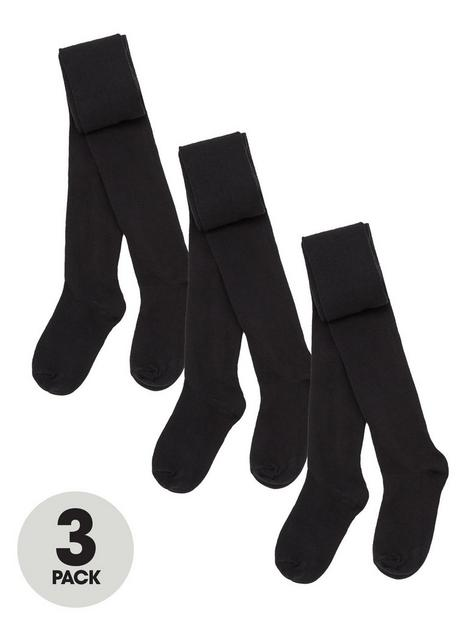 v-by-very-girls-3-packnbspflat-knit-tights-black
