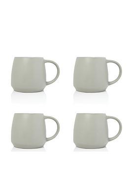 sabichi-set-of-4-grey-matt-stoneware-mugs