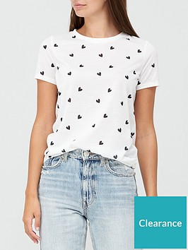 v-by-very-scattered-heart-print-t-shirt-white