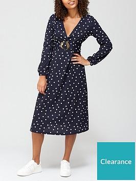 v-by-very-long-sleeve-crinkle-polka-dot-midi-dress-navy-spot