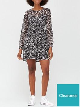 v-by-very-mesh-curve-seam-mini-dress-floral-print