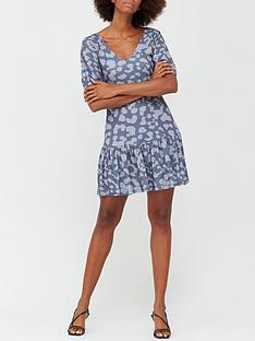 v-by-very-v-neck-puff-sleeve-smock-dress-greyanimal
