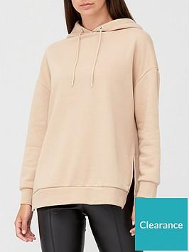 v-by-very-split-side-oversized-hoodie-camel