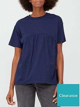 v-by-very-peplum-t-shirt-navy