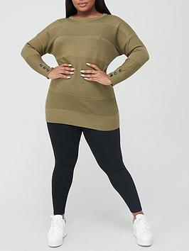 v-by-very-curve-button-detail-knitted-tunic-khaki