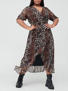 v-by-very-curve-wrap-split-midi-dress-animal-print
