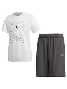 adidas-youth-x-short-and-tee-set