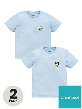 mickey-mouse-boys-disney-mickey-and-pluto-2-pack-motif-t-shirts-blue