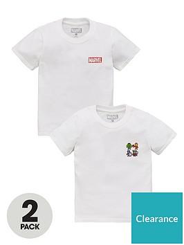 marvel-boys-disney-marvel-avengers-2-pack-motif-t-shirts-white