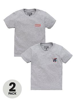 spiderman-boys-disney-marvel-and-spiderman-2-pack-motif-t-shirts-grey