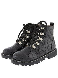 monsoon-girls-patent-texture-lace-up-boot-black