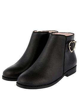 monsoon-girls-mona-heart-buckle-boot-black