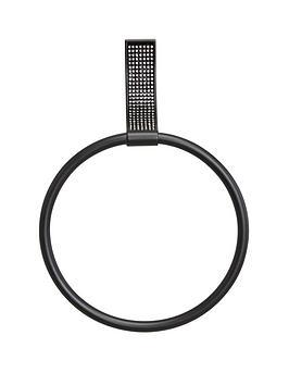 lloyd-pascal-sparkle-towel-ring-ndash-black