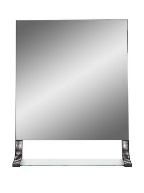 lloyd-pascal-sparkle-square-mirror-with-shelf-ndash-black
