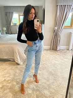 michelle-keegan-ripped-detail-classic-mom-jean-blue