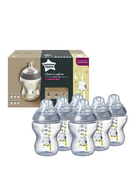 tommee-tippee-tommee-tippee-closer-to-nature-6-piece-decorated-bottles-ollie-the-owl