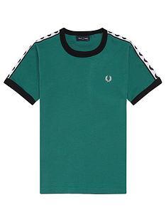 fred-perry-boys-short-sleeve-tape-ringer-t-shirt-petrol