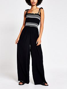 river-island-shirred-beach-jumpsuit-black