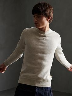 superdry-essential-cotton-crew-neck-jumper-stone