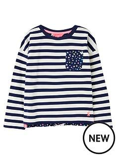 joules-girls-bliss-stripe-long-sleeve-top-navy