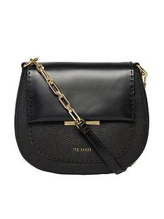 ted-baker-metal-plaque-curved-xbody-bag