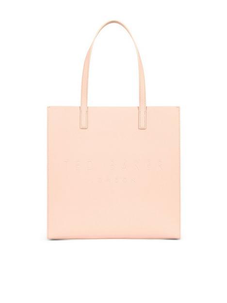 ted-baker-crosshatch-large-icon-bag-pink