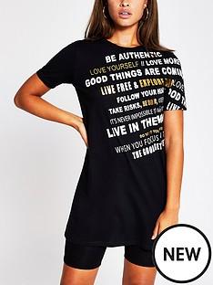 river-island-front-print-jersey-t-shirt-dress-black