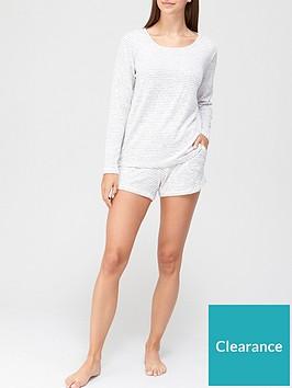 v-by-very-long-sleeve-and-shorts-pj-set-stripe