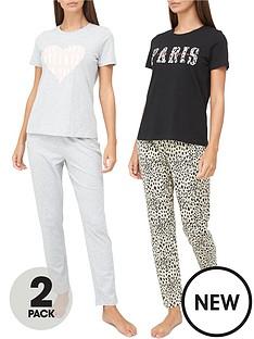 v-by-very-paris-amp-heart-2-pack-pyjama-set-multi