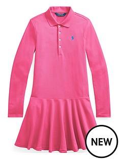 ralph-lauren-girls-classic-long-sleeve-polo-dress-pink