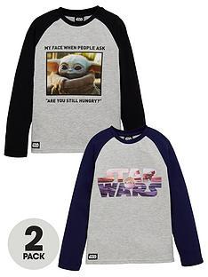 star-wars-boys-the-mandalorian-baby-yoda-2-pack-raglan-t-shirts-multi