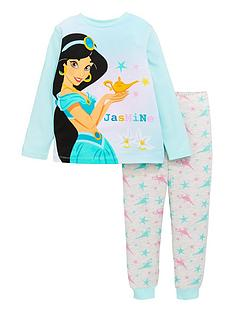 disney-princess-girlsnbspjasmine-long-sleeve-pyjamas-blue