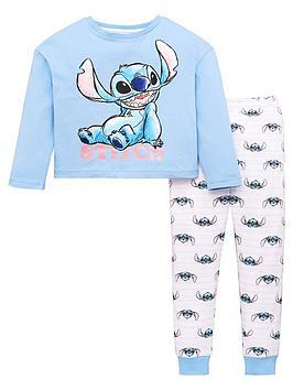 lilo-stitch-girls-disneynbsplong-sleeve-pjs-blue