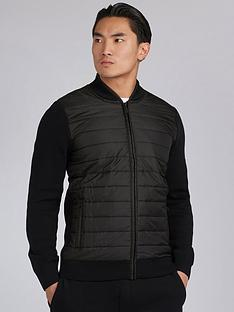 barbour-international-baffle-zip-through-knit-black
