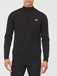 barbour-international-zip-through-knit-jumper-black