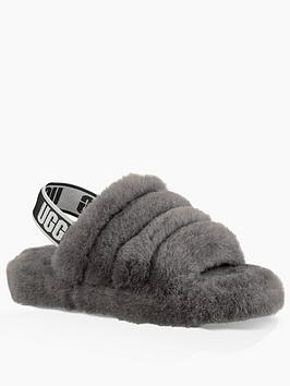 ugg-childrensnbspfluff-yeah-slide-slipper-charcoal