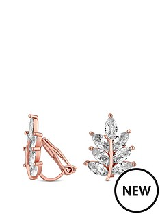 jon-richard-rose-gold-plated-leaf-clip-on-earrings