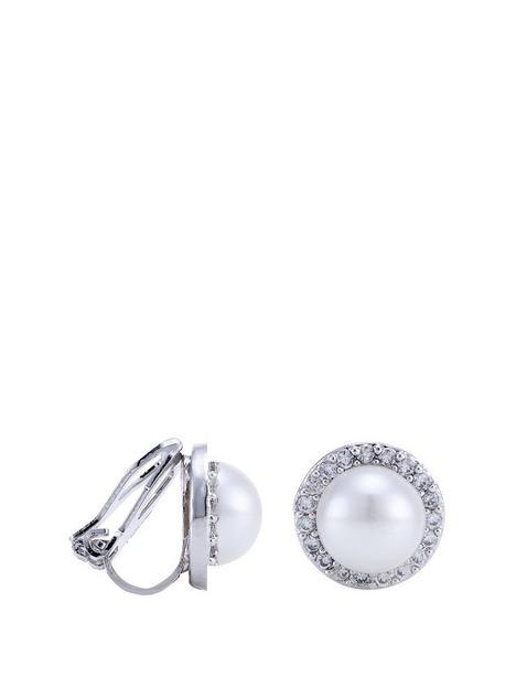 jon-richard-silver-plated-pave-pearl-clip-on-stud-earrings