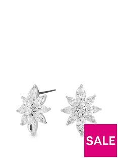 jon-richard-silver-plated-cubic-zirconia-cluster-flower-stud-earrings