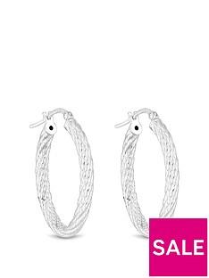 simply-silver-sterling-silver-texture-oval-hoop-earrings