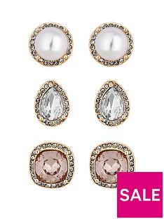 mood-rose-gold-plated-tonal-stud-earrings-pack-of-3