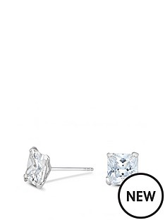 simply-silver-sterling-silver-7mm-square-cubic-zirconia-stud-earrings