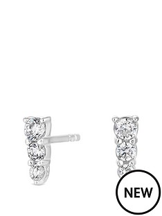 simply-silver-sterling-silver-cubic-zirconia-graduated-3-crystal-mini-stud-earrings