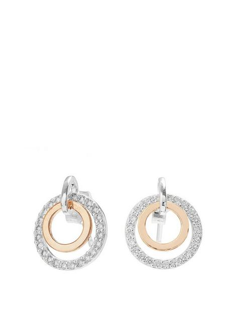 simply-silver-sterling-silver-two-tone-cubic-zirconia-double-round-earrings